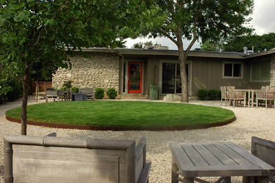 Before Picture Redesign Austin Texas After In Landscape Driveway Green